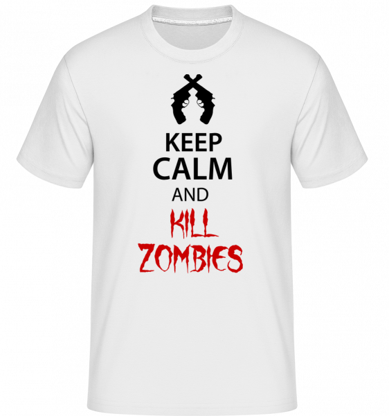 Keep Calm Kill Zombies - Shirtinator Men's T-Shirt - White - Vorn