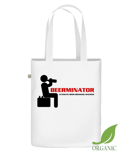 "Beerminator - Organic ""Earth Positive"" tote bag - White - Vorn"