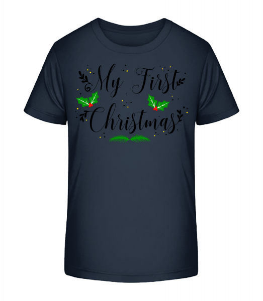 My First Christmas - Kid's Premium Bio T-Shirt - Navy - Vorn