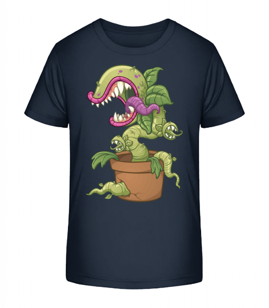 Bad Plant Comic - Kid's Premium Bio T-Shirt - Navy - Vorn