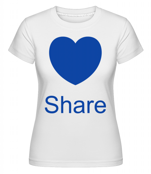 Share Heart - Shirtinator Women's T-Shirt - White - Vorn