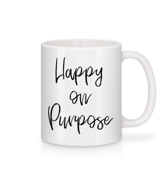Happy On Purpose - Mug - White - Vorn