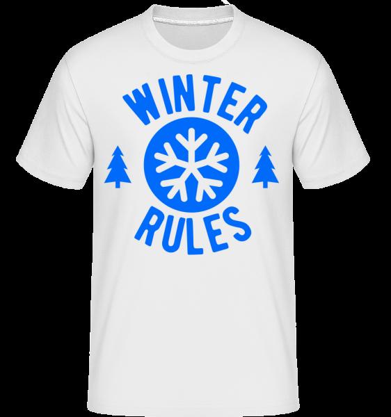 Winter Rules - Shirtinator Men's T-Shirt - White - Vorn