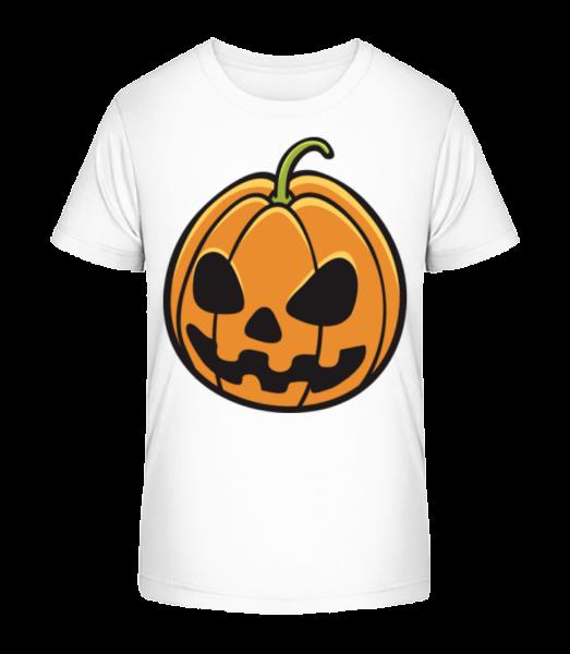 Halloween Pumpkin - Kid's Premium Bio T-Shirt - White - Vorn
