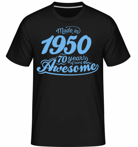 Made In 1950 70 Years Awesome - Shirtinator Men's T-Shirt - Black - Vorn