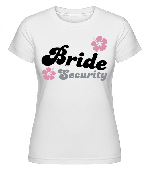 Bride Security Flowers - Shirtinator Women's T-Shirt - White - Vorn