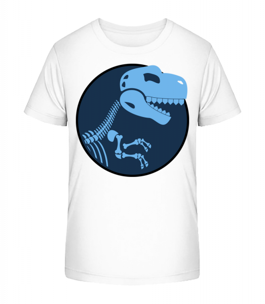 Dinosaur Logo - Kid's Premium Bio T-Shirt - White - Vorn