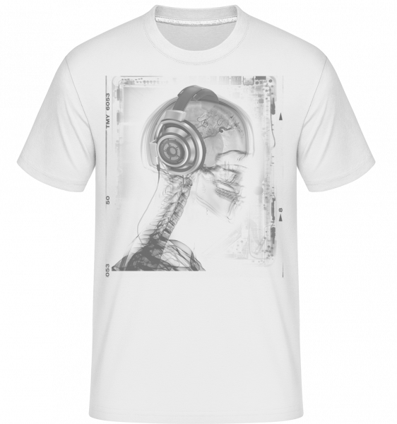 Skeleton Music -  Shirtinator Men's T-Shirt - White - Vorn