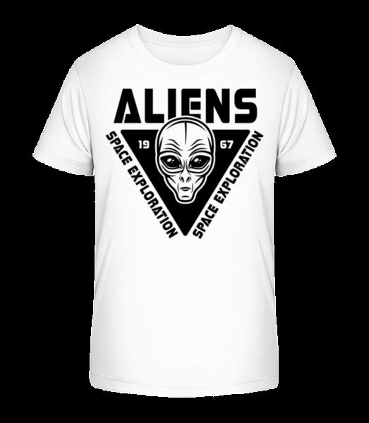 Aliens Space Exploration - Kid's Premium Bio T-Shirt - White - Vorn
