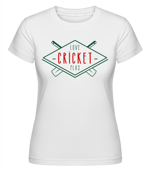 Love And Play Cricket - Shirtinator Women's T-Shirt - White - Vorn