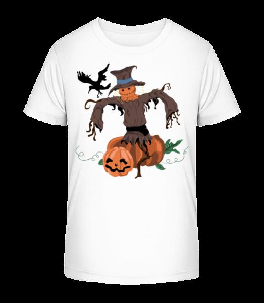 Pumpkin Scarecrow - Kid's Premium Bio T-Shirt - White - Vorn
