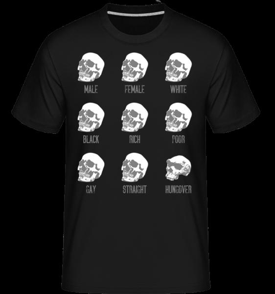 Hungover Skull - Shirtinator Men's T-Shirt - Black - Vorn