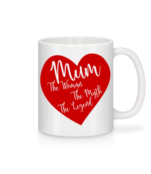 Mum - The Legend - Mug - White - Vorn