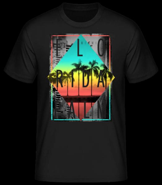Florida Palm - Basic T-Shirt - Black - Vorn