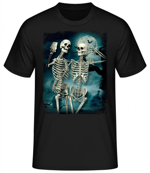 Skeleton Selfie - Men's Basic T-Shirt - Black - Vorn