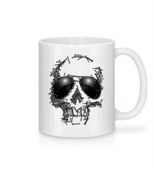 Skull Of Nails - Mug - White - Vorn