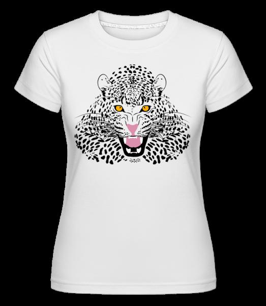 Leopard -  Shirtinator Women's T-Shirt - White - Vorn