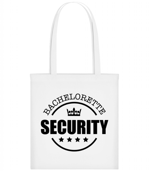 Bachelorette Security - Carrier Bag - White - Vorn