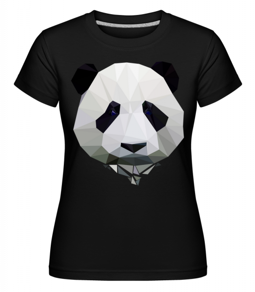 Polygon Panda -  Shirtinator Women's T-Shirt - Black - Vorn