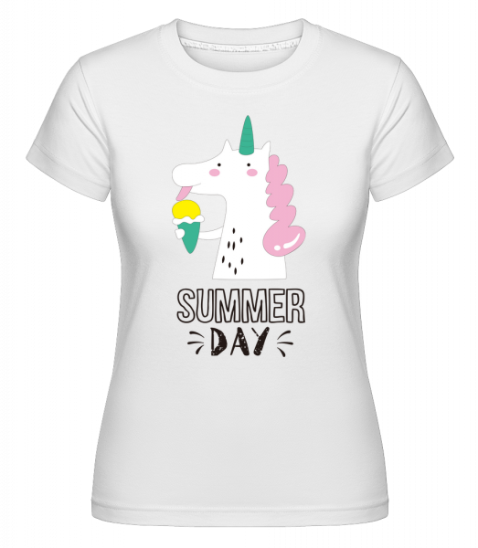 Summer Day Unicorn -  Shirtinator Women's T-Shirt - White - Vorn