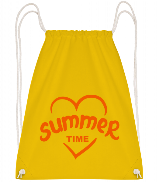 Summertime Heart - Drawstring Backpack - Yellow - Vorn