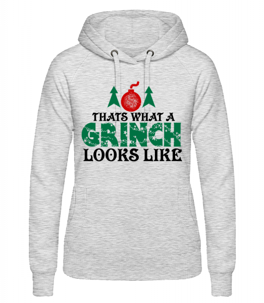 What A Grinch Looks Like - Women's hoodie - Heather grey - Vorn