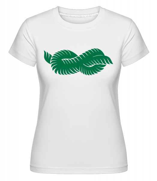 Plant Icon Green -  Shirtinator Women's T-Shirt - White - Vorn