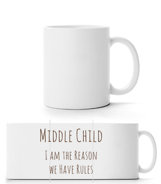 Middle Child - Panorama Mug - White - Vorn