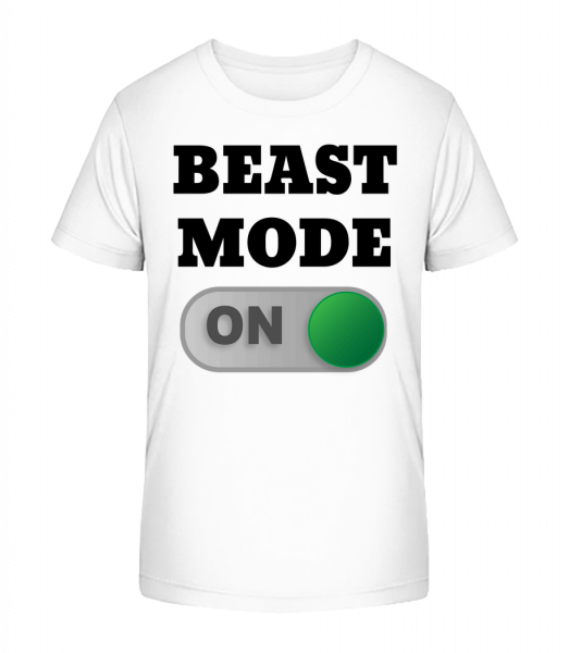 Beast Mode On - Kid's Premium Bio T-Shirt - White - Vorn
