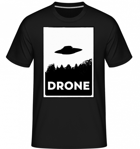 Drohne UFO -  Shirtinator Men's T-Shirt - Black - Vorn