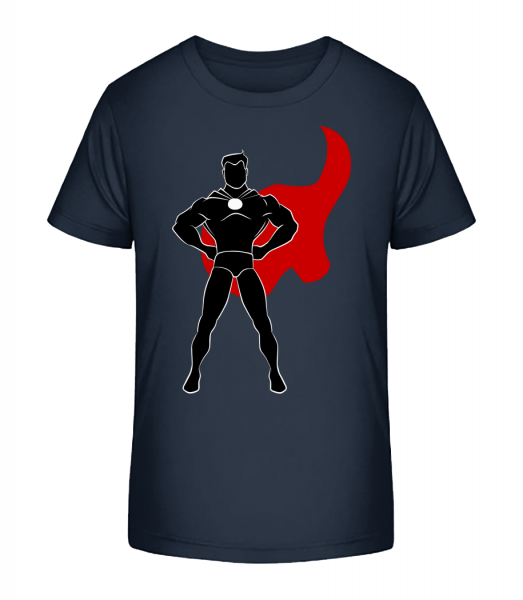 Superhero Standing - Kid's Premium Bio T-Shirt - Navy - Vorn