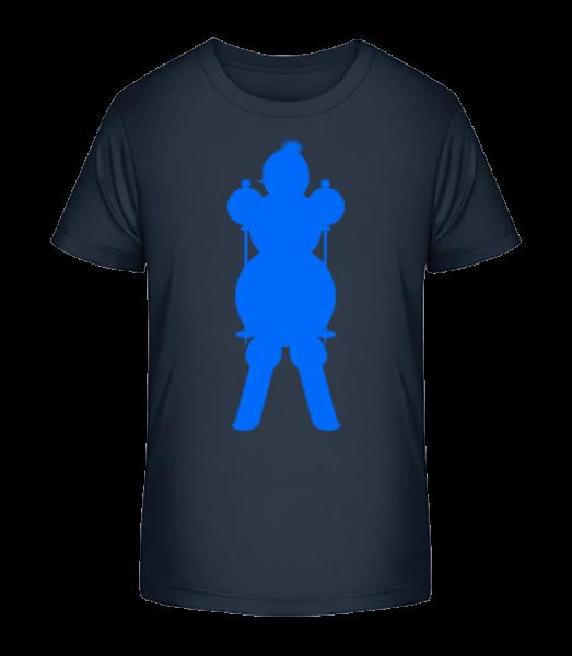 Ski Snowman Blue - Kid's Premium Bio T-Shirt - Navy - Vorn