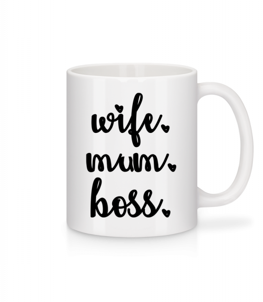 Wife Mum Boss - Mug - White - Vorn
