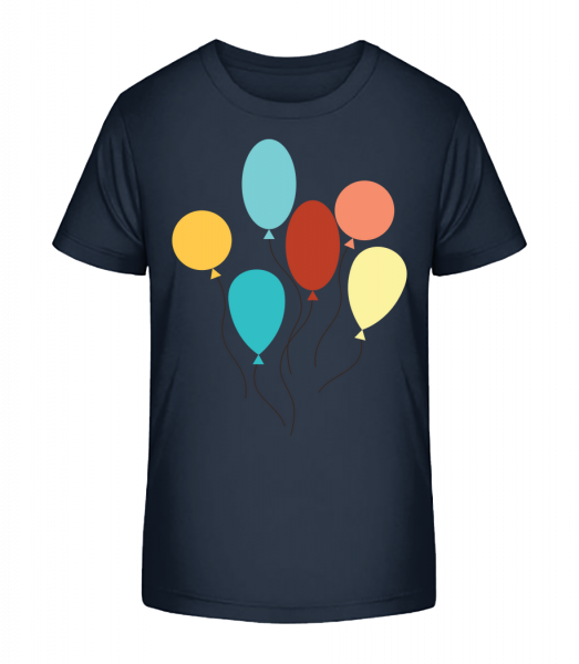 Many Balloons - Kid's Premium Bio T-Shirt - Navy - Vorn