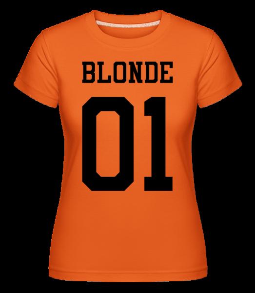 Blonde 01 - Shirtinator Women's T-Shirt - Orange - Vorn