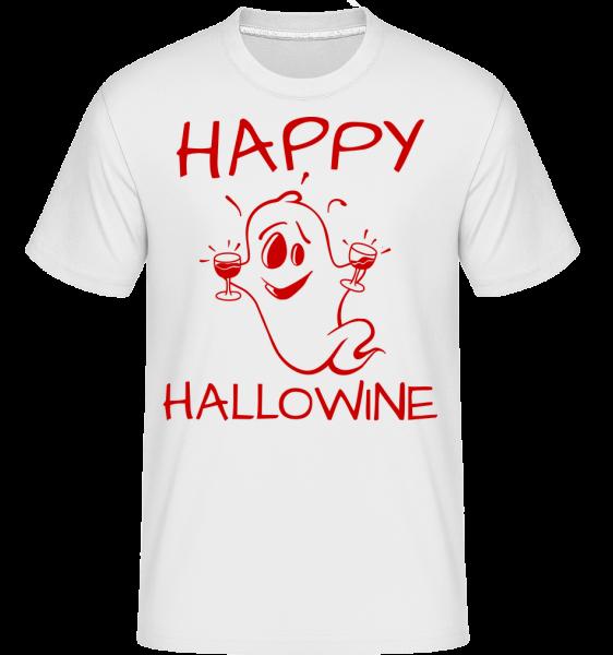 Happy Halloween Ghost -  Shirtinator Men's T-Shirt - White - Vorn