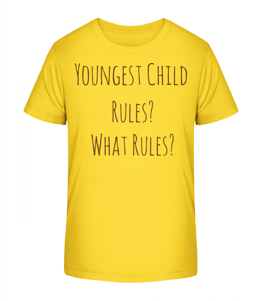 Youngest Child - Kid's Premium Bio T-Shirt - Yellow - Vorn