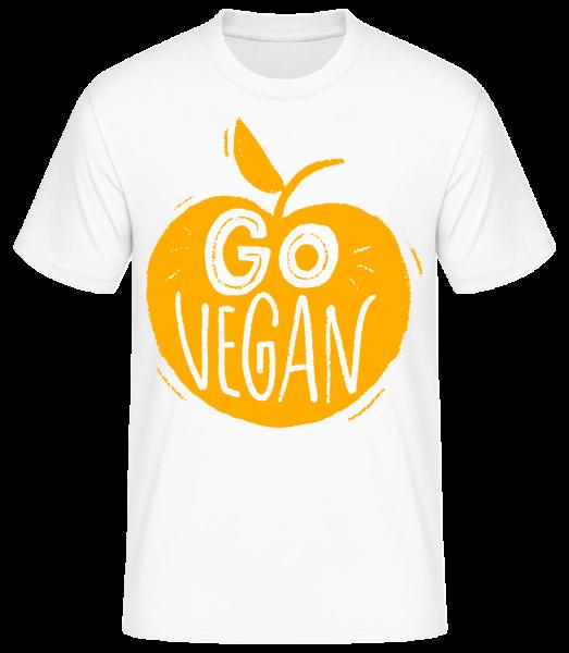 Go Vegan - Basic T-Shirt - White - Vorn