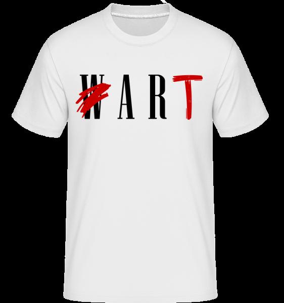 Art Not War - Shirtinator Men's T-Shirt - White - Vorn