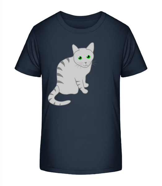 Kitty - Kid's Premium Bio T-Shirt - Navy - Vorn