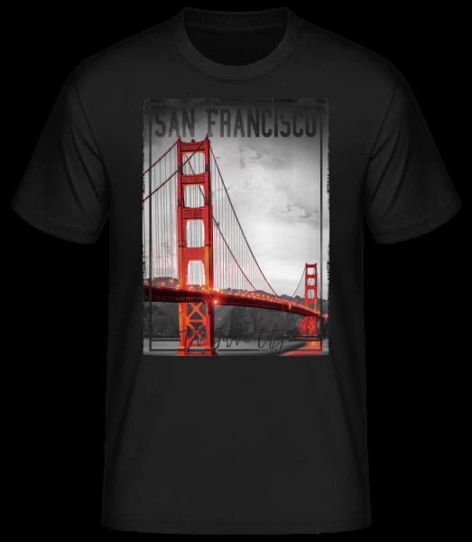 San Francisco Golden City - Men's Basic T-Shirt - Black - Vorn