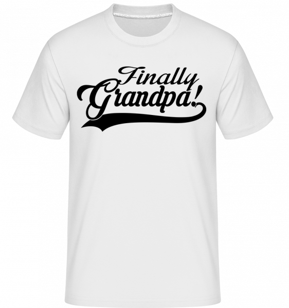 Finally Grandpa - Shirtinator Men's T-Shirt - White - Vorn