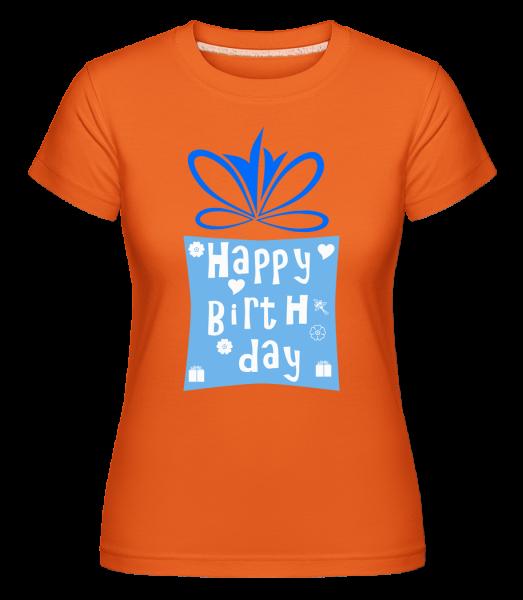 Happy Birthday Logo -  Shirtinator Women's T-Shirt - Orange - Vorn