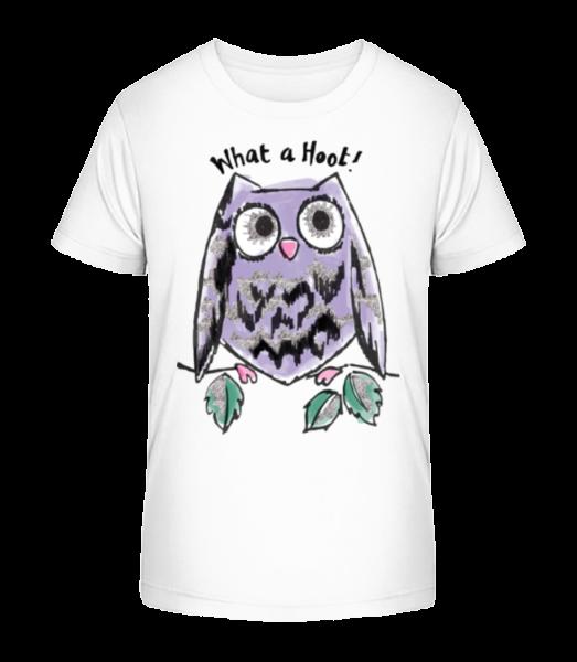 What A Hoot - Kid's Premium Bio T-Shirt - White - Vorn