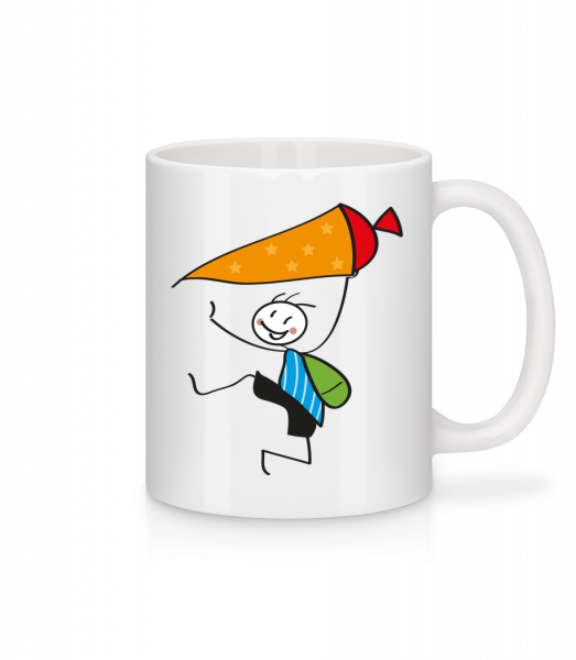 Child With Cornet Filled With Sweets - Mug - White - Vorn