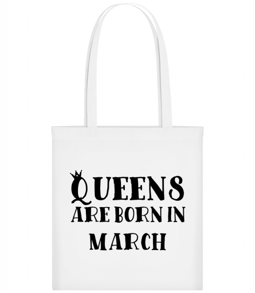 Queens Are Born In March - Carrier Bag - White - Vorn