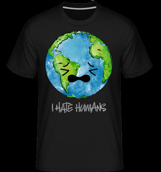 Earth Hates Humans -  Shirtinator Men's T-Shirt - Black - Vorn