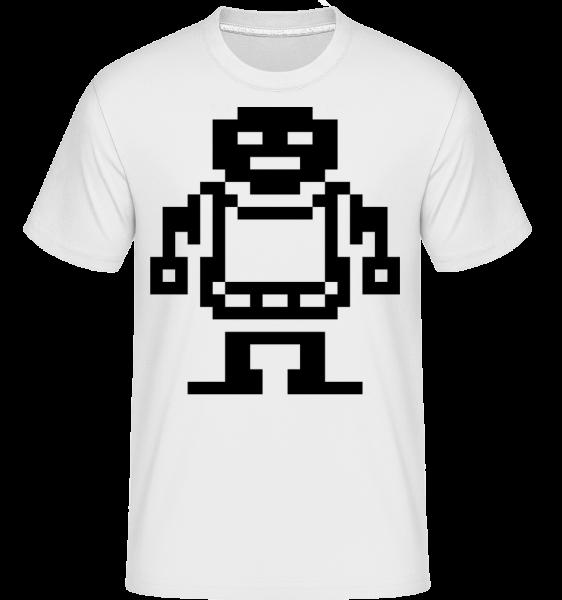 Pixel Roboter - Shirtinator Men's T-Shirt - White - Vorn