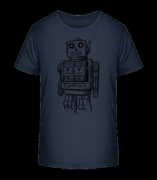 Baby Robot - Kid's Premium Bio T-Shirt - Navy - Vorn