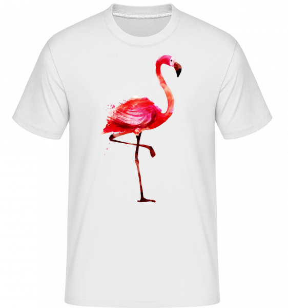 Flamingo -  Shirtinator Men's T-Shirt - White - Vorn